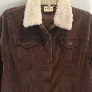 Nanette Lepore Corduroy Sherpa Jacket Brown Size M